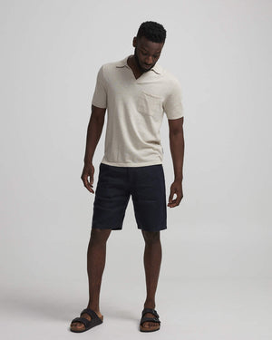 NN07 Crown Shorts 1196 linneshorts Navy