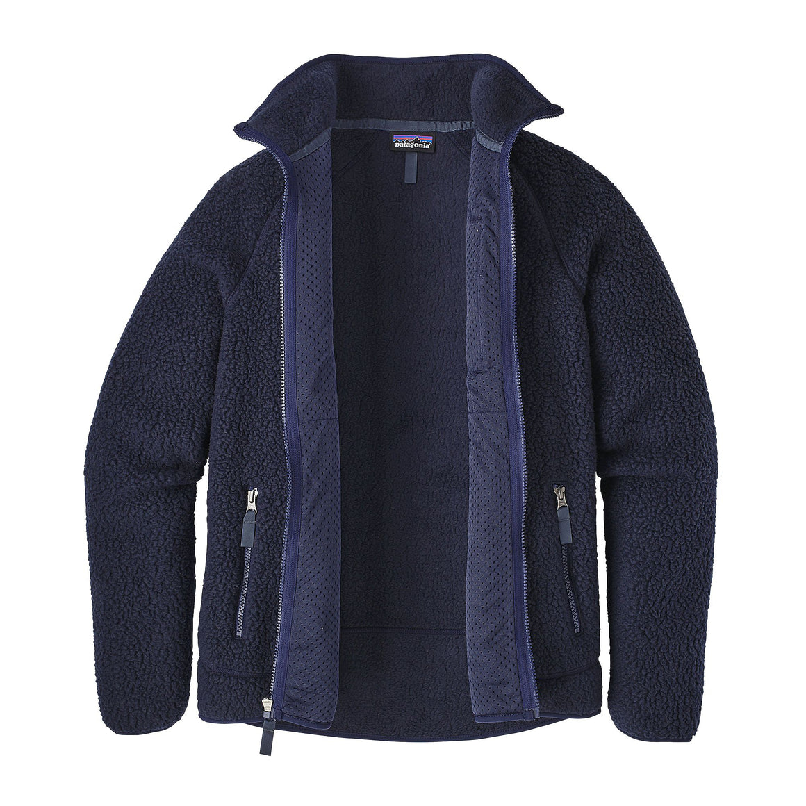 Patagonia Men's Retro Pile Fleece Jacket - Navy Blue