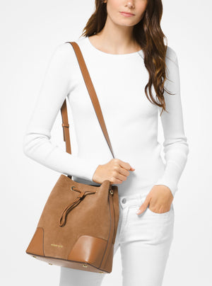 Michael Kors Cary Bucket bag suede brown