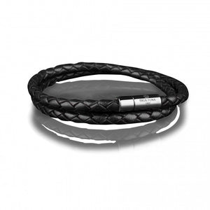 Skultuna leather bracelet 4MM black armband