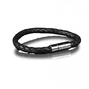 Skultuna leather bracelet 6mm black armband