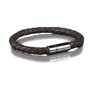 Skultuna leather bracelet 6mm dark brown armband