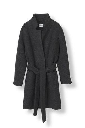 Ganni Fenn Wrap Coat rock