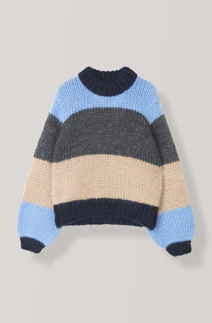 Ganni The Julliard Mohair Striped Pullover