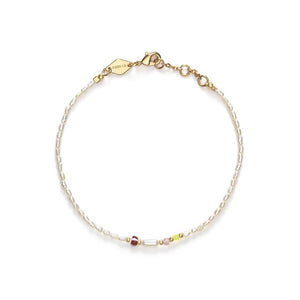 Anni Lu Rice & shine armband white smoke