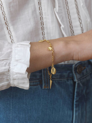 Anni Lu Summer treasure bracelet Gold