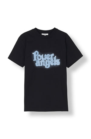 Ganni Harris T-shirt Power Angels svart