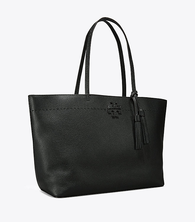 TORY BURCH MCGRAW TOTE Black/Royal navy