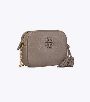Tory Burch Mcgraw camera bag silver maple