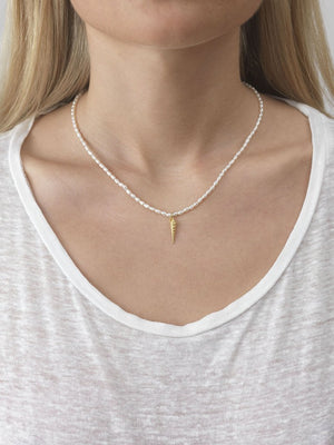 Anni Lu Turret shell & pearl necklace