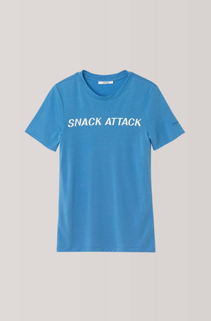 Ganni Linfield Lyocell T-shirt Snack Attack