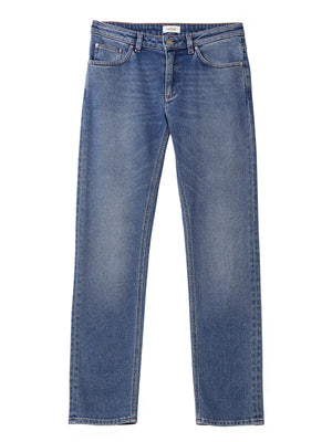 Toteme straight denim mid blue wash