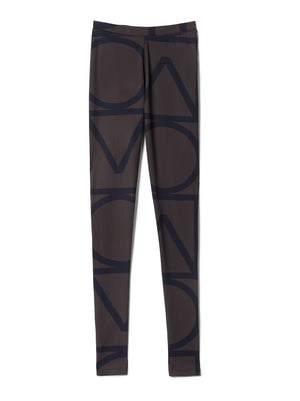 Toteme Leon tights navy monogram