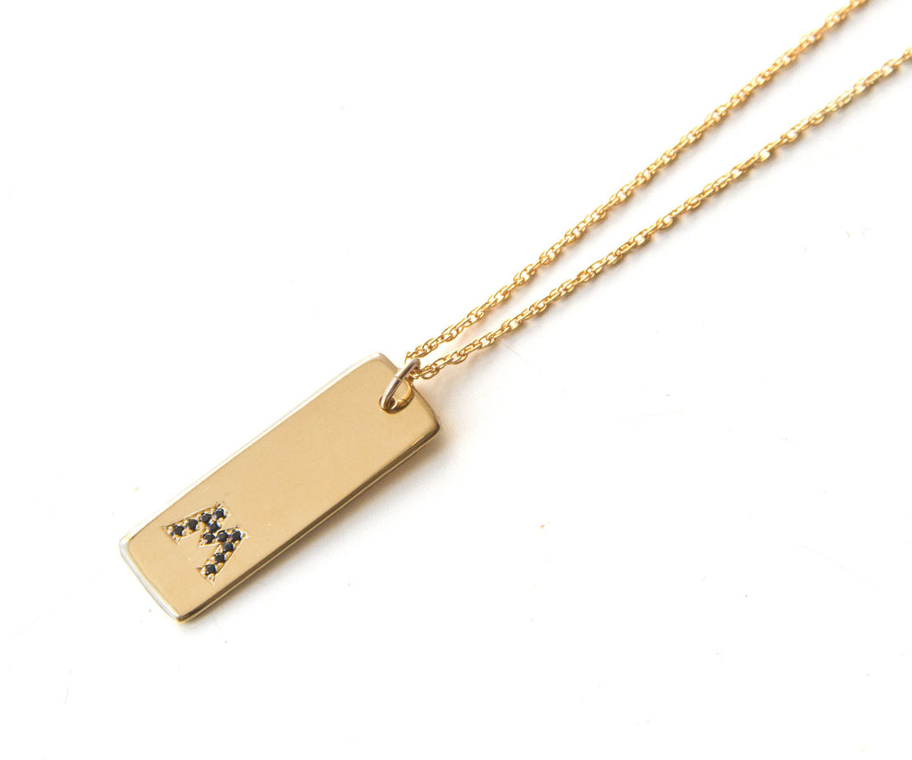 rybelo gold min pendant yellow solid bar vertical in products necklace