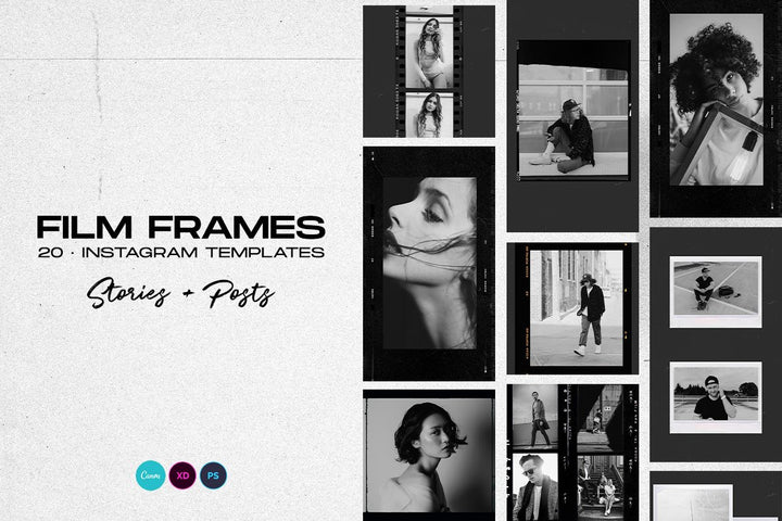 Instagram Stories Template - Film Frames - Instagram Template - CreativePresets.com
