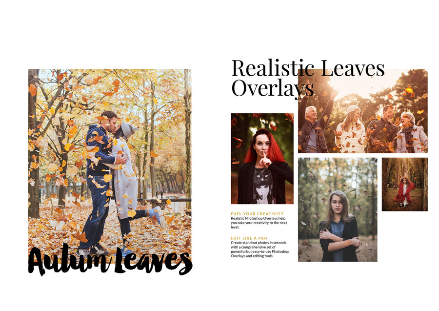 Autumn Leaves Overlays - Photoshop Overlays - CreativePresets.com