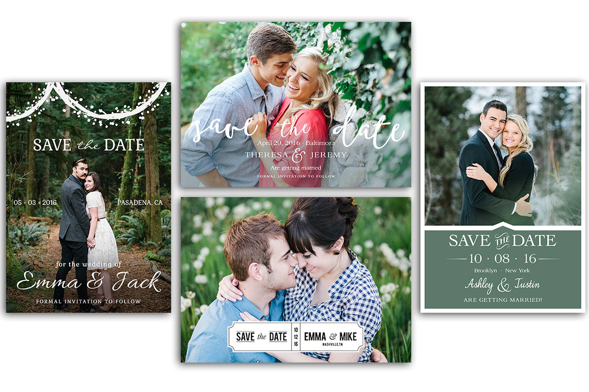 Save the Date Bundle Template Vol.1 - Photoshop/Elements - Photoshop Templates - CreativePresets.com