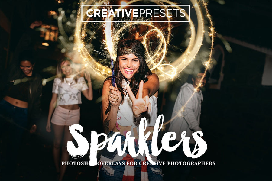 Sparkler Overlays - Photoshop Overlays - CreativePresets.com