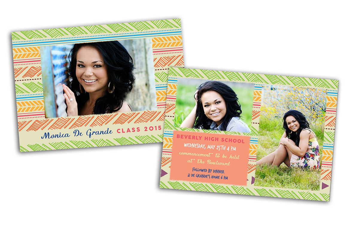 Senior Graduation Card - Photoshop Templates - CreativePresets.com