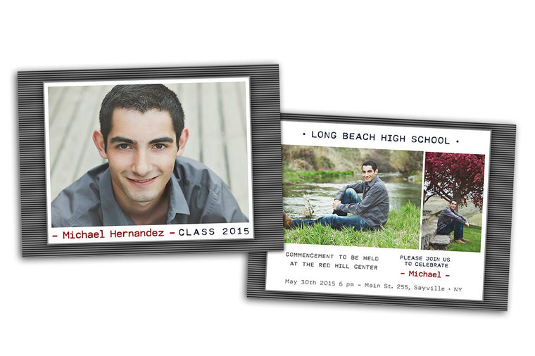 Senior Announcement Graduation card - Photoshop Templates - CreativePresets.com