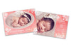 New Born Card - Baby Girl - Photoshop Templates - CreativePresets.com