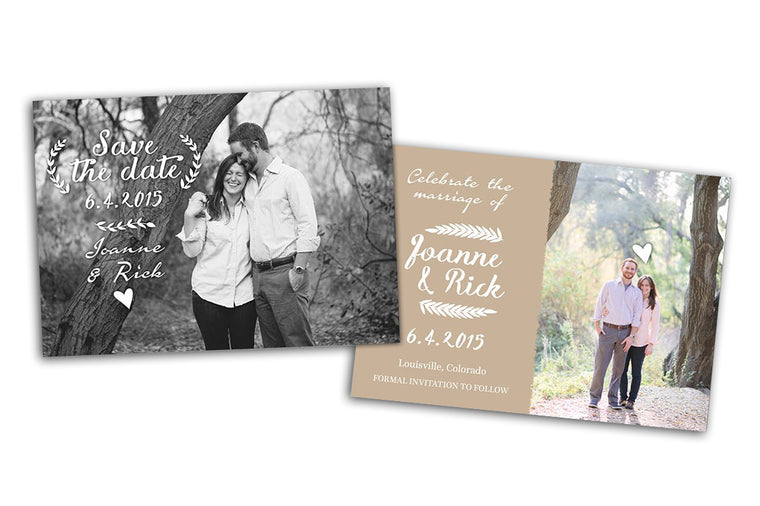 Save the Date - Romantic Card - Photoshop Templates - CreativePresets.com