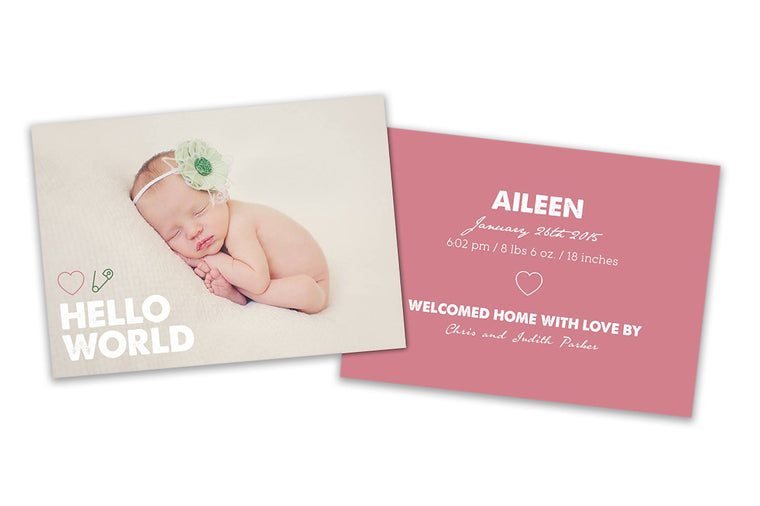 New Born Card - Baby Girl