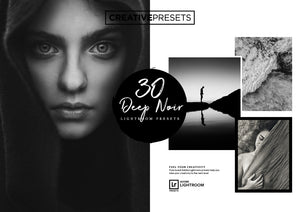 30 Deep Noir Lightroom Presets - Lightroom Presets - CreativePresets.com