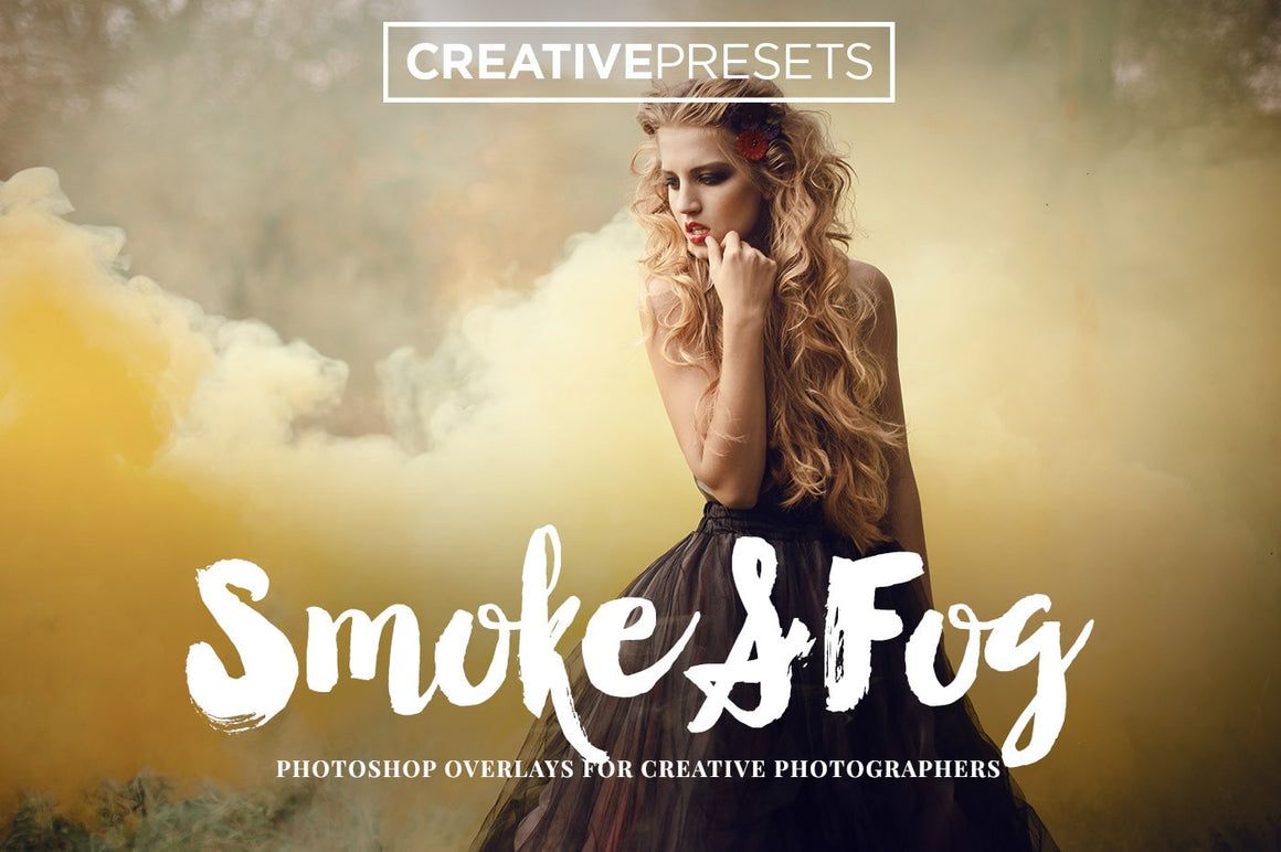 Realistic Smoke and Fog Overlays - Photoshop Overlays - CreativePresets.com