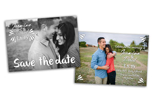 Save the Date - Modern Card - Photoshop Templates - CreativePresets.com