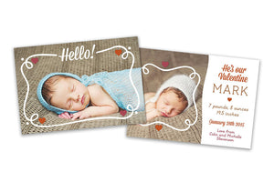 New Born Card - Baby Boy - Photoshop Templates - CreativePresets.com