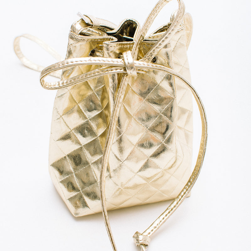 QUILTED MINI BOO BUCKET BAG - BOOPACKS
