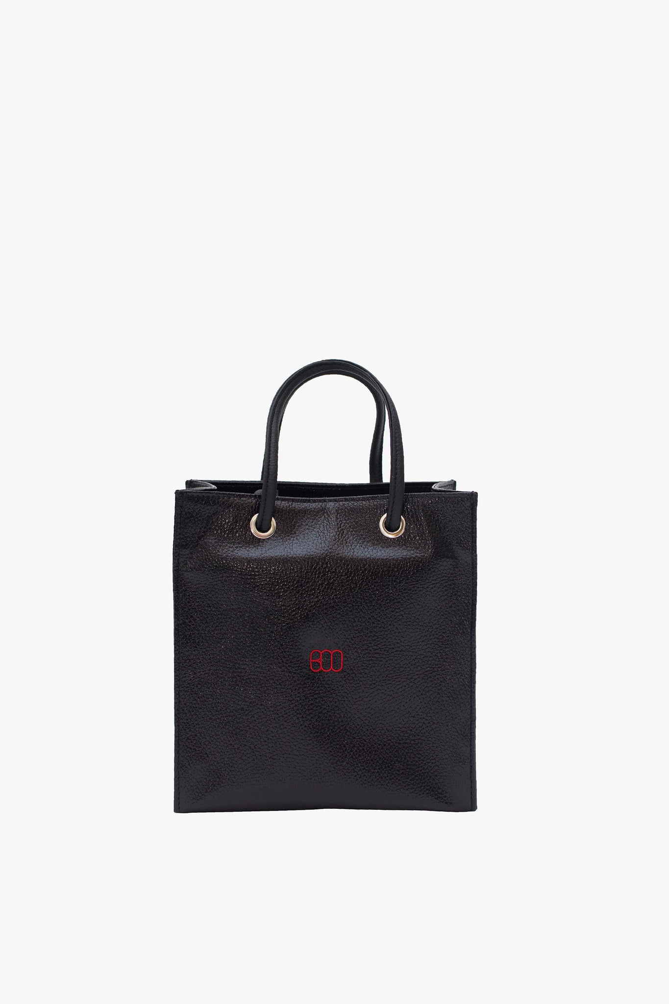 MINI SHOPPING TOTE BAG WITH RED LOGO