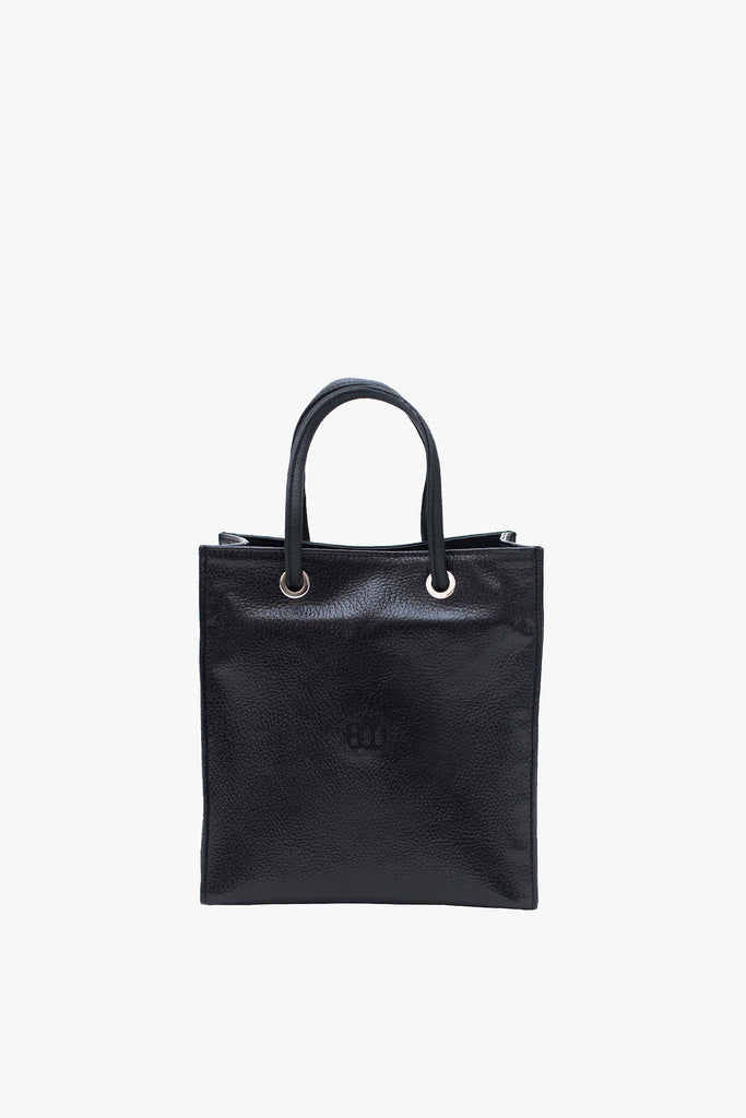 MINI SHOPPING TOTE BAG WITH BLACK LOGO