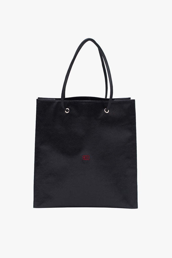SHOPPING TOTE BAG WITH RED LOGO