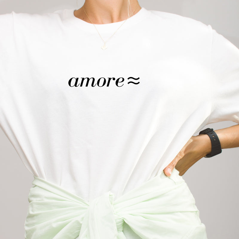 amore ≈ OVERSIZED T-SHIRT / Black