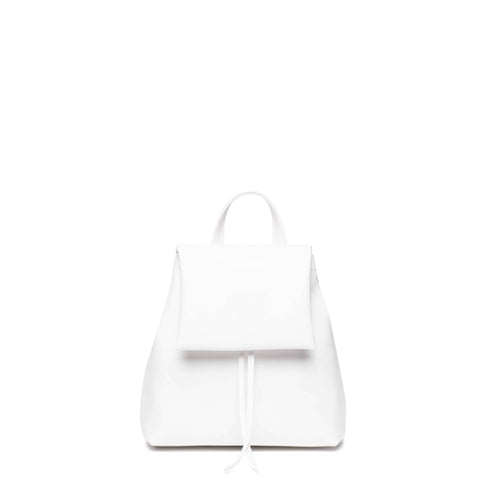 White mini backpack purse