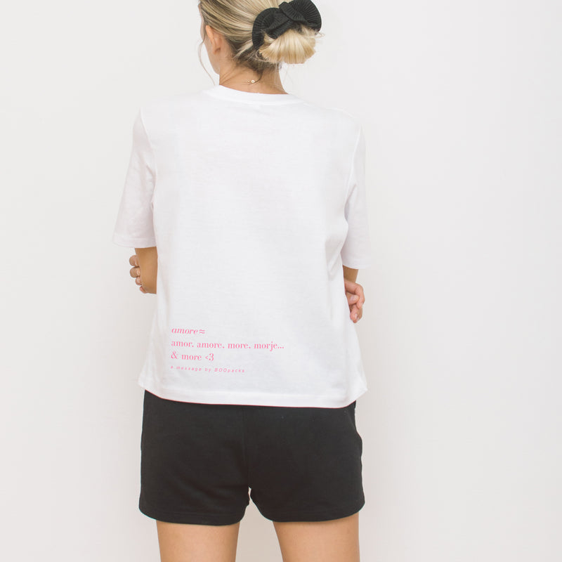 amore ≈ CROPPED T-SHIRT / Pink