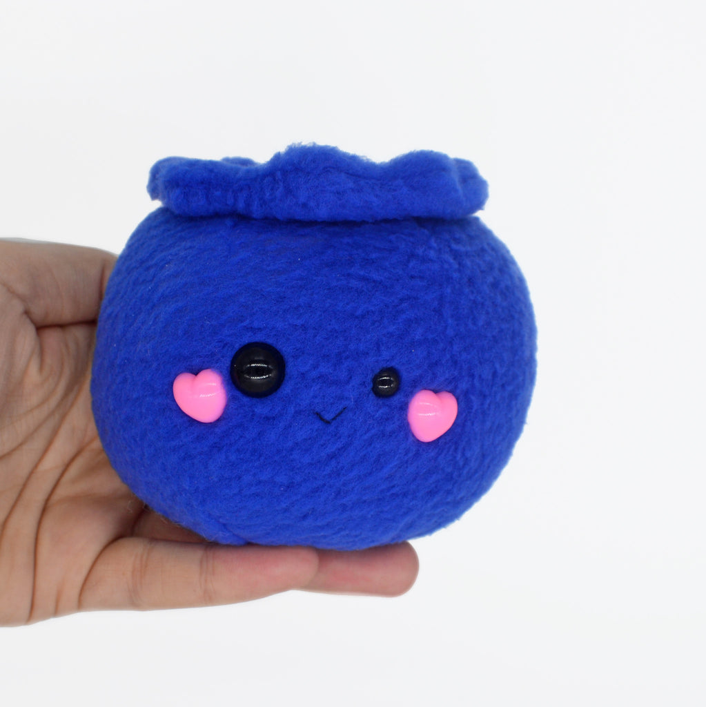 Blueberry plushie / desk buddy berry kawaii handmade fruit vegan food