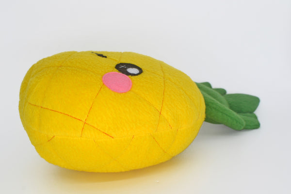 Pineapple plushie,  handmade soft fruit