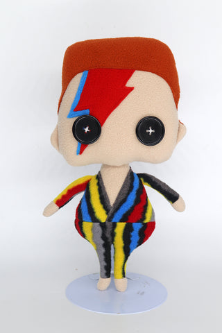 David Bowie plush doll - handmade to order