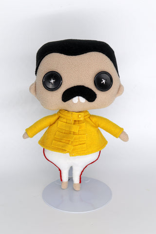 Freddie Mercury plush doll - handmade to order