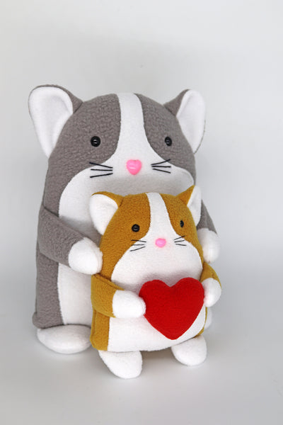 Cat and kitten handmade plushie