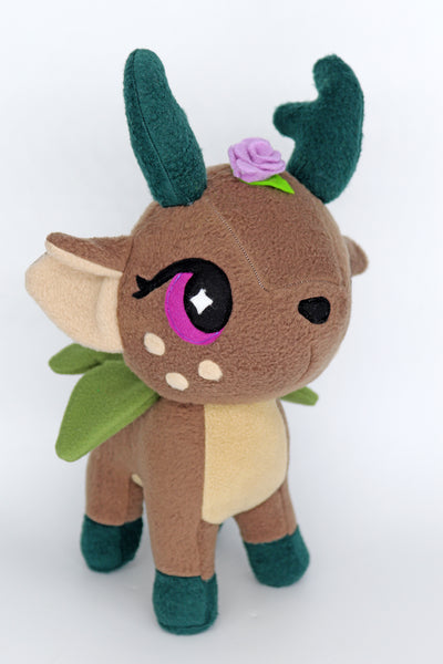 Magical fawn fairy plushie - handmade to order