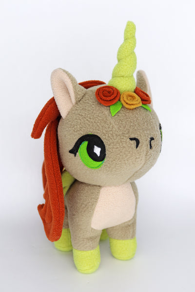 Autumn, the unicorn, kawaii  plushie - handmade to order