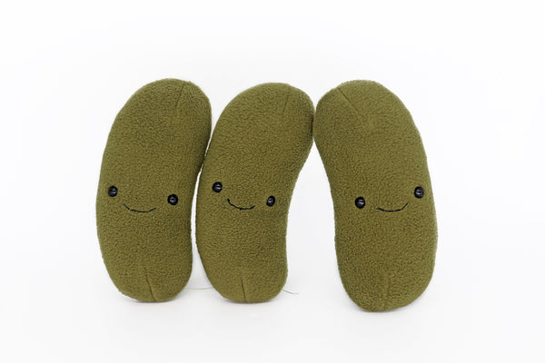 Dill Pickle plushie - handmade to order
