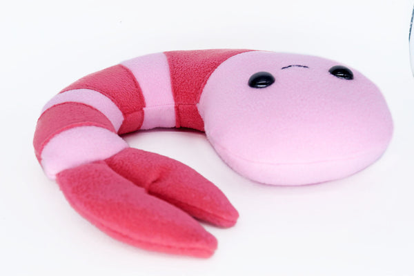 Shrimp plushie / prawn plushie - handmade to order