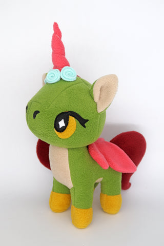 Fairy unicorn, kawaii  plushie - handmade to order
