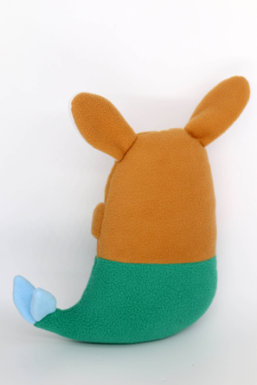 Corgi mermaid plushie , handmade to order