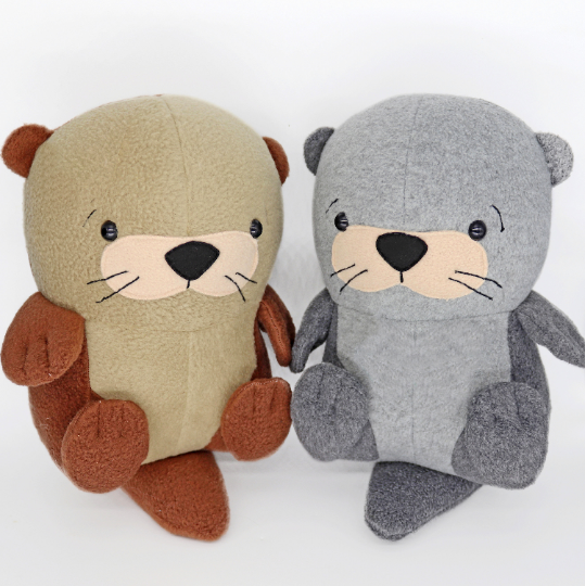 Otter handmade plush toy
